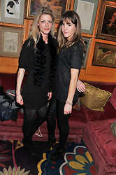 Left to right, CHARLOTTE BAER and DAISY DODD NOBLE at the Johnnie Walker Blue Label and David Gandy partnership launch party held at Annabel's, 44 Berkeley Square, London on 5th February 2013.