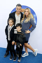 Edwin Arroyave, Teddi Mellencamp, Slate Arroyave and Cruz Arroyave at the Los Angeles premiere of 'Sonic the Hedgehog' held at Paramount Theatre in Los Angeles, USA on January 25, 2020.