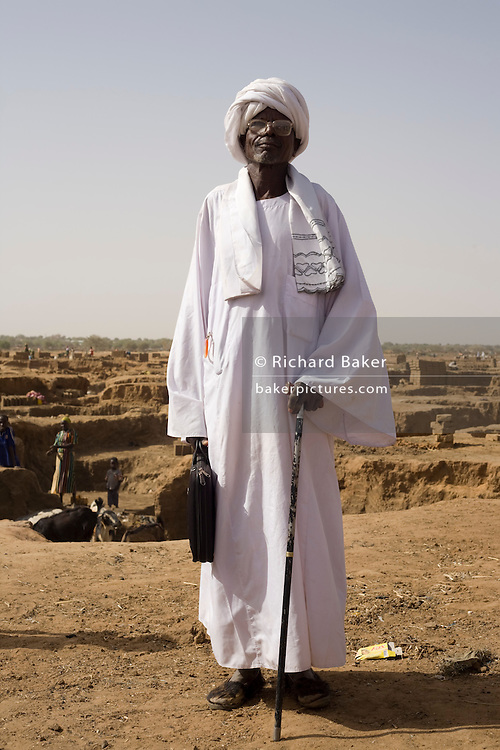 Hassan Abdullah Bakhour, Chief of the 4 sq km camp Abu Shouk refugee camp, (disputedly) home to 38,000 displaced persons, on the outskirts of Al Fasher, North Darfur.
