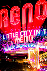 """""""Reno Lights 10"""" - The Grand Sierra Resort photographed in Reno, Nevada. The abstract effect was obtained in camera by long exposure mixed with intentional camera movement."""
