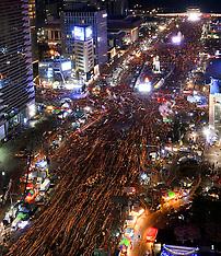 Proteste gegen Park Geun-hye in Seoul 10 Dec 2016