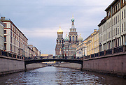 Bridge over the canal in St Petersburg, Russia