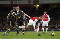 Photo: Olly Greenwood.<br />Arsenal v Charlton Athletic. The Barclays Premiership. 02/01/2007. Arsenal's Thierry Henry goes past Charlton's Souleymane Diawara