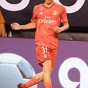 MEADOWLANDS, NEW JERSEY- August 7:  Sergio López #31 of Real Madrid in action during the Real Madrid vs AS Roma International Champions Cup match at MetLife Stadium on August 7, 2018 in Meadowlands, New Jersey. (Photo by Tim Clayton/Corbis via Getty Images)