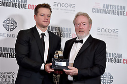 Ridley Scott and Matt Damon attend the 30th Annual American Cinematheque Awards Gala at The Beverly Hilton Hotel on October 14, 2016 in Beverly Hills, California. Photo by Lionel Hahn/AbacaUsa.com