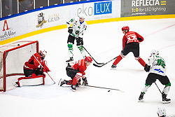 Summer Hockey League match between HK SZ Olimpija and HDD SIJ Jesenice, on September 12, 2020 in Ice Arena Bled, Bled, Slovenia. Photo by Peter Podobnik / Sportida