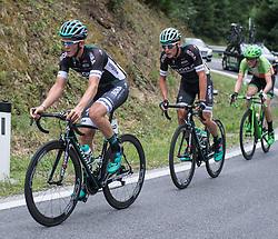 25.06.2017, Grein an der Donau, AUT, Rad Strassen Staatsmeisterschaft Elite Herren, 2017, Grein an der Donau, Oberösterreich im Bild v.l. Gregor Mühlberger (AUT, Bora - Hansgrohe), Lukas Pöstlberger (AUT, Bora - Hansgrohe), Patrick Bosman (AUT, Hrinkow Advarics Cycleang Team) // during cycling road championship, Grein an der Donau, Oberöstereich at 2017/06/25. EXPA Pictures © 2017, PhotoCredit: EXPA/ R. Eisenbauer