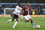 Aston Villa defender Neil Taylor (3) battles for possession  with Swansea City midfielder Nathan Dyer (12) during the The FA Cup 3rd round match between Aston Villa and Swansea City at Villa Park, Birmingham, England on 5 January 2019.