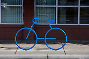 Stylish bike rack is part of the new image with 100-plus miles of new bike lanes and signed routes—along with more than 30 bike racks—in the Las Vegas metropolitan area
