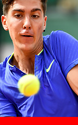 Xinhua/PA Images<br /><br />File Photo: Kellogg's initiate court proceedings to prevent Australian tennis player Thanasi Kokkinakis from using the nickname Special K.<br /><br />(170531) -- PARIS, May 31, 2017 (Xinhua) -- Thanasi Kokkinakis of Australia returns the ball to Kei Nishikori of Japan during their men's singles 1st round match at French Open Tennis Tournament 2017 in Paris, France on May 30, 2017. Thanasi Kokkinakis lost 1-3. (Xinhua/Chen Yichen) ... 2017 French Open - Day Three - Roland Garros ... 31-05-2017 ... Paris ... Photo credit should read: Chen Yichen/Unique Reference No. 31514964 ...