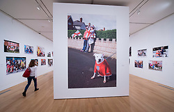 Martin Parr <br /> Photography exhibition <br /> Only Human <br /> At the National Portrait Gallery, London, Great Britain <br /> Press view <br /> 6th March 2019 <br /> <br /> <br /> Martin Parr (Photographer) <br /> Speaks to journalists ahead of giving a guided tour of his work. <br /> <br /> Stone Cross Parade St George's Day West Bromwich 2017 <br /> <br /> Photograph by Elliott Franks