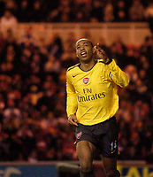 Photo: Jed Wee.<br /> Middlesborough v Arsenal. The Barclays Premiership. 03/02/2007.<br /> <br /> Arsenal's Thierry Henry celebrates after scoring his team's equaliser.