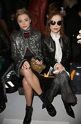 Chloe Grace Moretz and Isabelle Huppert attending the Louis Vuitton show as part of the Paris Fashion Week Womenswear Fall/Winter 2018/2019 held at Le Louvre, in Paris, France, on march 05, 2018, France. Photo by Jerome Domine/ABACAPRESS.COM