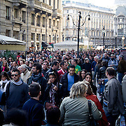 The Indignados demonstration in Milan