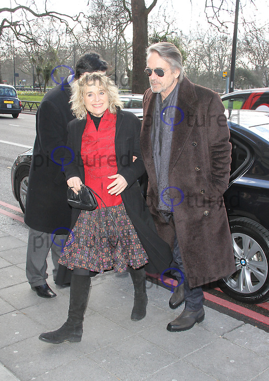 Sinead Cusack; Jeremy Irons, TRIC Awards, Grosvenor House Hotel, London UK, 12 March 2013, (Photo by Richard Goldschmidt)