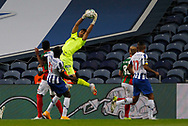 Amir Abedzadeh goalkeeper of Maritimo saves a ball during the Portuguese League (Liga NOS) match between FC Porto and Maritimo at Estadio do Dragao, Porto, Portugal on 3 October 2020.
