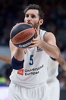 Real Madrid Rudy Fernandez during Turkish Airlines Euroleague match between Real Madrid and Crvena Zvezda at Wizink Center in Madrid, Spain. December 01, 2017. (ALTERPHOTOS/Borja B.Hojas)