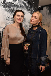 Left to right, Lana De Goriainoff and Annika Ancverina at a party hosted by Nicholas Kirkwood and Eva Fehren to celebrate Part 2 in the Nicholas Kirkwood presents series held at Nicholas Kirkwood, 5 Mount Street, London England. Eva Fehren is a fine jeweller, born and raised in New York City. Her collections are both inspired and created in the city, and via the Nicholas Kirkwood store, it is the first opportunity to view and shop the collection in London. 9 November 2017.