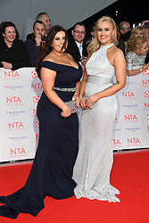 Ellie and Izzi Warner attending the National Television Awards 2018 held at the O2, London. Photo credit should read: Doug Peters/EMPICS Entertainment