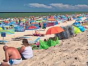 Letnie kąpielisko Rowy Wschód o długość linii brzegowej 200 m i jednym zejściu na plażę