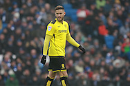 Burton Albion midfielder Michael Kightly (28) during the EFL Sky Bet Championship match between Brighton and Hove Albion and Burton Albion at the American Express Community Stadium, Brighton and Hove, England on 11 February 2017. Photo by Bennett Dean.
