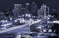 8th Street & Bellevue Skyline (Night II)