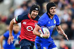 Carlo Canna of Italy in action<br /> <br /> Photographer Craig Thomas/Replay Images<br /> <br /> Quilter International - England v Italy - Friday 6th September 2019 - St James' Park - Newcastle<br /> <br /> World Copyright © Replay Images . All rights reserved. info@replayimages.co.uk - http://replayimages.co.uk