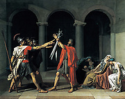 Jacques-Louis David (30 August 1748 – 29 December 1825) was a highly influential French painter in the Neoclassical style, The Oath of the Horatii 1784-5