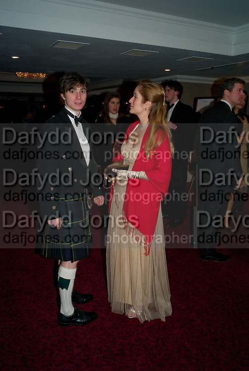 MATTHEW HARDCASTEL; ALEXANDRA REEVEY. The 30th White Knights charity  Ball.  Grosvenor House Hotel. Park Lane. London. 10 January 2009 *** Local Caption *** -DO NOT ARCHIVE-© Copyright Photograph by Dafydd Jones. 248 Clapham Rd. London SW9 0PZ. Tel 0207 820 0771. www.dafjones.com.<br /> MATTHEW HARDCASTEL; ALEXANDRA REEVEY. The 30th White Knights charity  Ball.  Grosvenor House Hotel. Park Lane. London. 10 January 2009