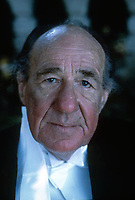 Sir Michael Hordern.British stage and film actor photographed in London in May 1986 by Terry Fincher.