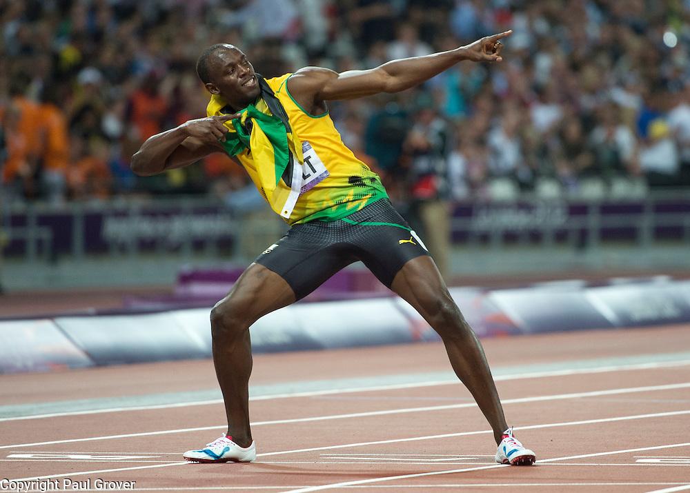 Olympics.Athletics Olympic Stadium.200m final Pic Shows Usaine Bolt