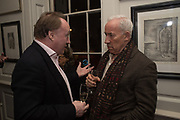 ANDREW ROBERTS; SIMON CALLOW, The launch of Fire Child by Sally Emerson. Hosted by Sally Emerson and Naim Attalah CBE. Dean St. London. 22 March 2017