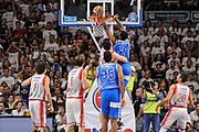 DESCRIZIONE : Campionato 2014/15 Serie A Beko Dinamo Banco di Sardegna Sassari - Grissin Bon Reggio Emilia Finale Playoff Gara6<br /> GIOCATORE : Shane Lawal<br /> CATEGORIA : Schiacciata Controcampo<br /> SQUADRA : Dinamo Banco di Sardegna Sassari<br /> EVENTO : LegaBasket Serie A Beko 2014/2015<br /> GARA : Dinamo Banco di Sardegna Sassari - Grissin Bon Reggio Emilia Finale Playoff Gara6<br /> DATA : 24/06/2015<br /> SPORT : Pallacanestro <br /> AUTORE : Agenzia Ciamillo-Castoria/C.Atzori
