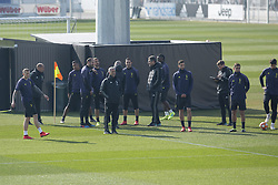 February 19, 2019 - Turin, Piedmont, Italy - Juventus players during the training on the eve of the first leg of eighth of final of UEFA Champions League match between Atletico Madrid and Juventus FC at Juventus Training Center on February 19, 2019 in Turin, Italy. (Credit Image: © Massimiliano Ferraro/NurPhoto via ZUMA Press)