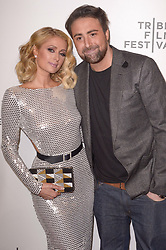 Paris Hilton, Bert Marcus attending the premiere of the movie American Meme during the 2018 Tribeca Film Festival at Spring Studios in New York City, NY, USA on April 27, 2018. Photo by Julien Reynaud/APS-Medias/ABACAPRESS.COM