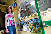 Belinda Kerruish and Vic Prossar at the Little Britain burger van along the A49 on the 04th August 2011 in Chruch Strettton in the United Kingdom.