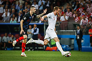 Harry Kane of England and Marcelo Brozovic of Croatia during the 2018 FIFA World Cup Russia, semi-final football match between Croatia and England on July 11, 2018 at Luzhniki Stadium in Moscow, Russia - Photo Thiago Bernardes / FramePhoto / ProSportsImages / DPPI