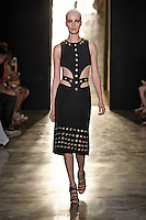 A model walks the runway wearing Cushnie et Ochs Spring 2015 during Mecedes-Benz Fashion Week in New York on September 5th, 2014