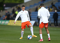 Blackpool's Jerry Yates during the warm-up<br /> <br /> Photographer Rob Newell/CameraSport<br /> <br /> Sky Bet League One Play-Off Semi-Final 1st Leg - Oxford United v Blackpool - Tuesday 18th May 2021 - Kassam Stadium - Oxford<br /> <br /> World Copyright © 2021 CameraSport. All rights reserved. 43 Linden Ave. Countesthorpe. Leicester. England. LE8 5PG - Tel: +44 (0) 116 277 4147 - admin@camerasport.com - www.camerasport.com