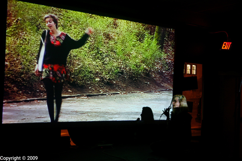 Fancie (Berlin) performs during the last show at the Cinemat in Bloomington, Indiana.