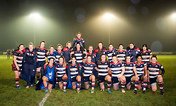 Bristol Ladies pose with a young mascot after defeat to Loughborough Lightning - Mandatory by-line: Paul Knight/JMP - 11/11/2017 - RUGBY - Cleve RFC - Bristol, England - Bristol Ladies v Loughborough Lightning - Tyrrells Premier 15s