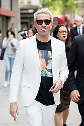 © Licensed to London News Pictures. 10/06/2016. London, UK. Nick Grimshaw arrives at the opening for London Collections Men at 180 The Strand. Photo credit : Tom Nicholson/LNP