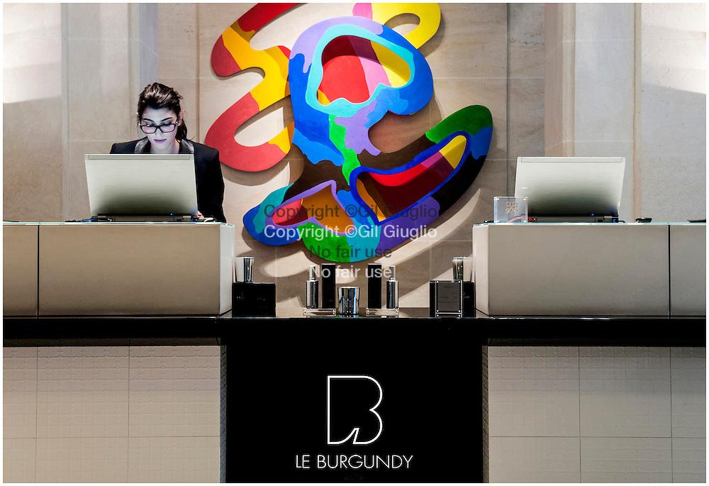 France, Paris, urgundy Hotel