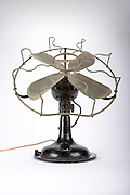 vintage fan on white background