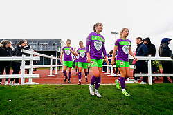 Carla Humphrey of Bristol City and Poppy Pattinson of Bristol City - Mandatory by-line: Ryan Hiscott/JMP - 14/10/2018 - FOOTBALL - Stoke Gifford Stadium - Bristol, England - Bristol City Women v Birmingham City Women - FA Women's Super League 1