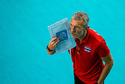 Headcoach Emanuele Zanini of Croatia in action during the CEV Eurovolley 2021 Qualifiers between Croatia and Netherlands at Topsporthall Omnisport on May 16, 2021 in Apeldoorn, Netherlands