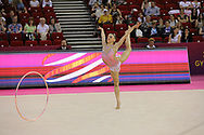Llana Garcia, Spain, during day one of the 33rd European Rhythmic Gymnastics at Papp Laszlo Budapest Sports Arena, Budapest, Hungary on 19 May 2017. Photo by Myriam Cawston.