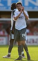 Photo: Daniel Hambury.<br />Brentford v Bristol City. Coca Cola League 1. 07/10/2006.<br />Bristol City's Cole Skuse applauds the fans at the end.