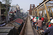 Long Bien bridge, Hanoi, Vietnam<br /> No model release