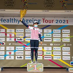 10-03-2021: Wielrennen: Healthy Ageing Tour: Assen<br />Bergtrui Chloe Hosking